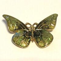 Butterfly Green Enamel Metal Pin Brooch