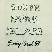 Vintage T-Shirt 1991 Padre Island Spring Break Nudities, single stitch derelict