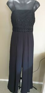 NEW Ally Black Lace Detail Jumpsuit Size 8, Rrp $40 Brand New with Tags