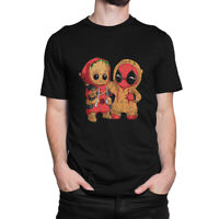 Baby Groot and Deadpool Funny T-Shirt, Guardians of the Galaxy Marvel Tee