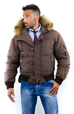 piumino DSQUARED 52 XL MOTHER FLUFF Very RARE coat down jacket pelle bomber uomo
