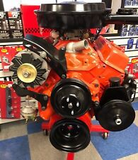 SB Chevy SBC Complete LWP Steel Pulley Kit W/Alternator, Power Steering NEW