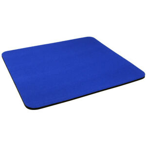 Dark Blue Fabric Mouse Mat Pad High Quality 5mm Thick Non Slip Foam 25cm x 22cm