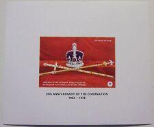 Great Britain - Davaar Island - Block 25th Anniversary Crown, Sceptre, Sword MNH