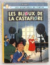Tintin Les Bijoux de la Castafiore EO B34 1963 Hergé TBE Beaux plats