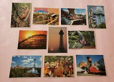 Kings Dominion amusement park set of unused 10 vintage postcards early 90's