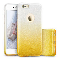 COVER Custodia Glitter GRADIENTE Morbida Silicone x APPLE IPHONE 6 6S PLUS Giall