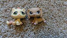 AUTHENTIC Littlest Pet Shop LPS #909 #914 Pink Polka Dot DACHSHUND Dog & Cat