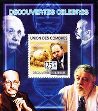 Comores MNH Sheet, Dolly Sheep, Ian Wilmut, Embryologist, Genitics Medicine -C90