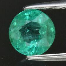 Stunning! 0.89ct 6.2mm Round Natural Green Emerald, Ethiopia