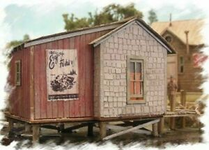 BAR MILLS HO SCALE FISHING SHACK AT COZY COVE 662