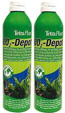 2 Stück Tetra CO2-Depot 650ml/11g Ersatzflasche für Co2 Optimat Kohlenstoff