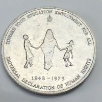 Ceres Fao Rome Universal Declaration of Human Rights 1948-1973 Medal F328