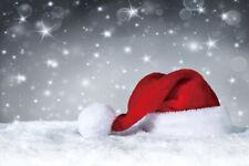 Christmas Snow Hat 7x5ft Photography Backgrounds Vinyl Backdrops