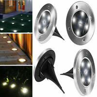 4 Pack of Solar Powered LED Garden Patio Deck Lights Decking Driveway Outdoor