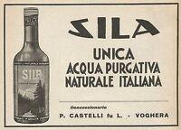 Z0247 Acqua purgativa SILA - Pubblicità del 1928 - Advertising