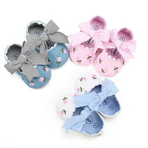 Toddler Newborn Baby Kids Girl Embroidery Flower Fashion First Walkers Shoes