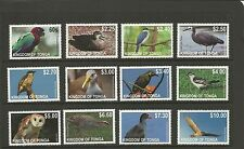 TONGA SG1624-1635 2012 BIRDS SET MNH