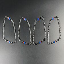 For BMW 3 Series E90 2005-12 Carbon Fiber M-Stripe Door Handle Frame Trim Cover