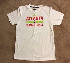 Authentic adidas NBA Atlanta HAWKS Team Issued White Practice Shirt LARGE