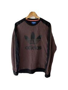 Adidas Trefoil Purple Melange Jumper Sweatshirt Size Medium M