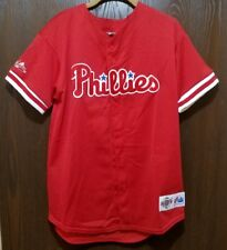 Majestic Red Philadelphia Phillies Baseball Jersey Youth XL STITCHED