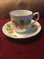 Queens Fine Bone China Cup And Saucer Virginia Strawberry Made In India