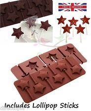 6 IN SILICONE STELLA a forma di cioccolato Fondant Lolly LOLLIPOP Bake Ware MUFFA KAWAII