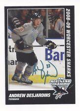 2008-09 Worcester Sharks (AHL) Andrew Desjardins (Adler Mannheim)