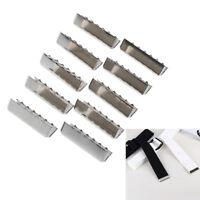 10X Extremo hebilla cinturón metal cadenas llavero bolsa etiqueta cinta algo*QA