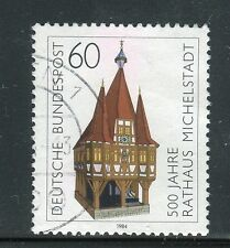 GERMANY 1984 500th ANN.MUNICIPIO MICHELSTADT/ARCHITECTURE/TOWN HALL usata/used