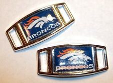 Set of 2 DENVER BRONCOS Shoelace Charms For Paracord Projects NEW