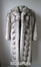 Women's Sz 6 Natural Real Norwegian Blue Fox Fur Coat MINT