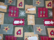 Christmas Vinyl Tablecloth, Snowmen, Snowflakes, 82 x 61 inch Rectangle, Kohls