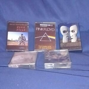 LOT 5 K7 cassette audio PINK FLOYD (TB état/Bon état) vérifiées