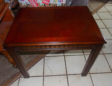 Mahogany Carved End Table / Side Table by Lane  (T644)