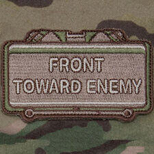 MilSpec FRONT TOWARD ENEMY Multicam Tactical Military Combat Army Morale Patch