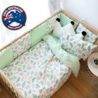 Cotton Decor Nursery Linen 3,5,11 Piece Cot Bed Sheet Set Baby Toddler Unisex