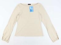 Florence & Fred Womens Size 12 Beige Split Sleeve Top (Regular)