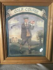 "Framed Print of a Golfer In 19th Century Clothing Titled ""Golf Course"""