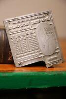 Vintage Letterpress Printing Block 1932 GOODYEAR TIRES Dealer sign pathfinder
