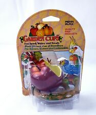 Penn Plax Apple Garden Cup - Seed, Feed, or Water Cup for Birds / Bird Feeder
