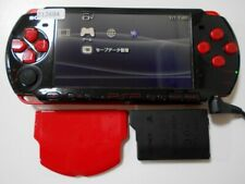 Z12684 Sony PSP-3000 console Black x Red Handheld system Japan w/Batteryx