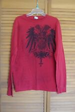 Original Hybrid Threads Long Sleeve Graphic Shirt Red Men's size S Small ~ VGC