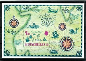 SEYCHELLES - 1971 ON THE MAP Mini-Sheet Fine Used