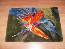Rug- 100% Wool Bird of Paradise Flower Hand Made Thick Rug