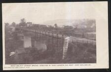 Postcard Lisbon Ohio/Oh West Walnut St Railroad Overpass Bridge view 1907
