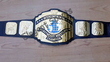 WWF 4mm Black Intercontinental Wrestling Championship Adult Metal Replica Belt