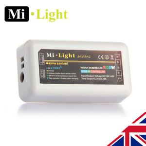 Milight RGBW 2.4G 4 Zone wifi RF led strip Receiver Controller 5050 2835
