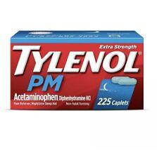 TYLENOL PM 500 mg Extra Strength Night Time Sleep 225 Caplets Exp-01/2022